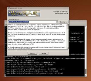 Wizar de instalación de Winrar