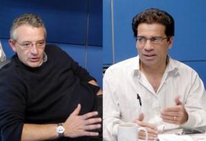 Mario Gustavo Ordaz Schroerder y Eduardo Reinoso Angulo, investigadores del Instituto de Ingeniería de la UNAM.