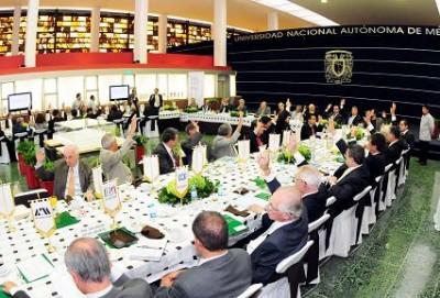 En la Torre de Rectoría se celebró la Asamblea General de la Alianza para la Formación e Investigación en Infraestructura para el Desarrollo de México, que preside el rector José Narro Robles.